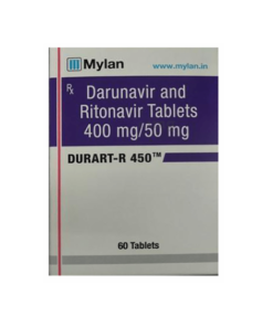 Buy generic Prezista + Norvir (Darunavir + Ritonavir) 'Durart-R 450' at an affordable cost. It's produced by Mylan Pharmaceuticals® of the USA, an FDA approved manufacturer. 'Durart-R 450' holds quality assurance certification.