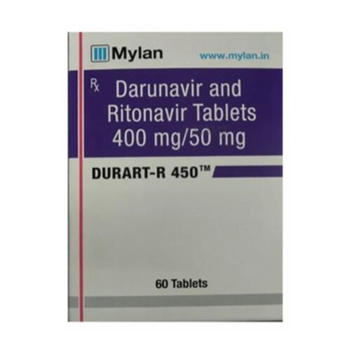 Buy generic Prezista +Norvir (Darunavir + Ritonavir) 'Durart-R 450' at an affordable cost. It's produced by Mylan Pharmaceuticals® of the USA, an FDA approved manufacturer. 'Durart-R 450' holds quality assurance certification.