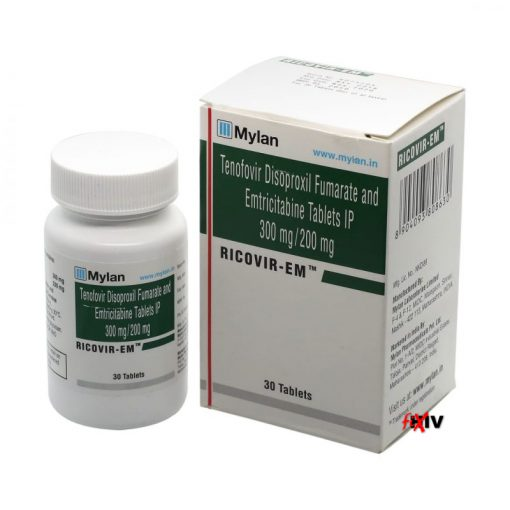 Buy Ricovir-EM (Tenofovir Disoproxil Fumarate / Emtricitabine) for the best price. It's a quality assured Truvada generic produced in India by Mylan Pharmaceuticals of the USA, an FDA approved manufacturer.