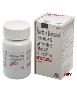 Buy Tenolam Lamivudine Tenofovir Disoproxil Fumarate HIV Generic Cimduo Viread Epivir Hetero