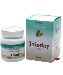 Buy Trioday Viread Epivir Sustiva generic efavirenz lamivudine tenofovir disoproxil fumarate HIV Complete Regimen Cipla