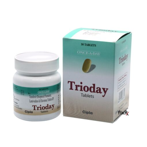 Buy generic Viread + Epivir + Sustiva (Efavirenz + Lamivudine + Tenofovir Disoproxil Fumarate) 'Trioday' at an affordable cost. It's produced by Cipla Inc® of India, an FDA approved manufacturer. 'Trioday' holds quality assurance certification.
