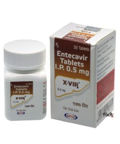 Buy generic Baraclude (Entecavir) 'X-Vir 0.5 mg' at an affordable cost. It's produced by Natco Inc® of India, an FDA approved manufacturer. 'X-Vir' holds quality assurance certification.