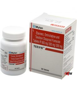 Buy Teevir generic Atripla Tenofovir Disoproxil Fumarate Efavirenz Emtricitabine HIV complete regimen Mylan