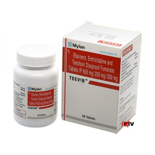 Buy generic Atripla online (Tenofovir Disoproxil Fumarate / Efavirenz / Emtricitabine) for the lowest price. Teevir is produced under license in India by Mylan Pharmaceuticals of the USA, an FDA approved manufacturer.