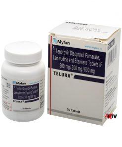 Buy Telura Viread Epivir Sustiva generic efavirenz lamivudine tenofovir disoproxil fumarate HIV complete regimen Mylan