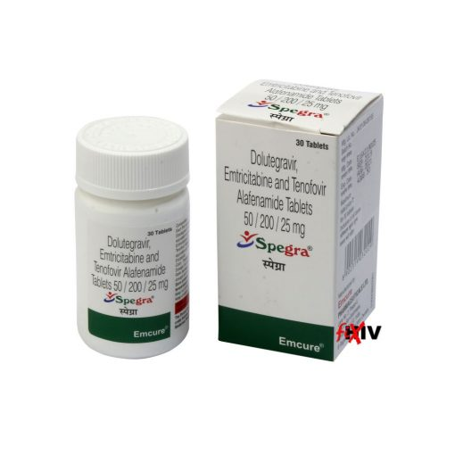 Buy generic Descovy + Tivicay (Tenofovir Alafenamide/Emtricitabine + Dolutegravir) 'Spegra' at an affordable cost. It's produced by Emcure Pharmaceuticals Ltd® of India, an FDA approved manufacturer. 'Spegra' holds quality assurance certification.