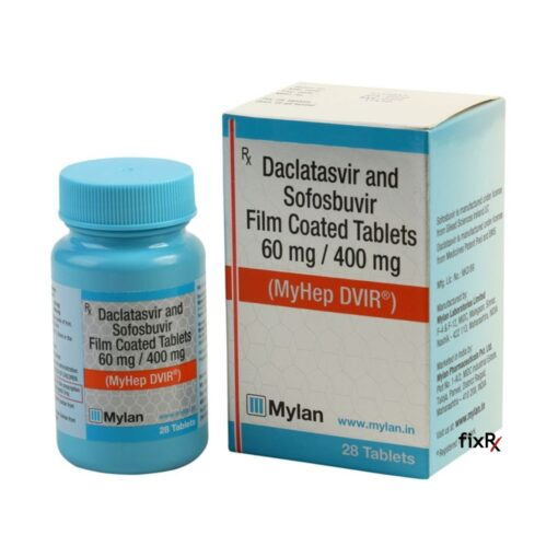Buy generic Sovaldi + Daklinza (Sofosbuvir + Daclatasvir) 'MyHep DVIR' at an affordable cost. It's produced under license by Mylan Pharmaceuticals® of the USA, an FDA approved manufacturer. Additionally, 'MyHep DVIR' holds quality assurance certification.