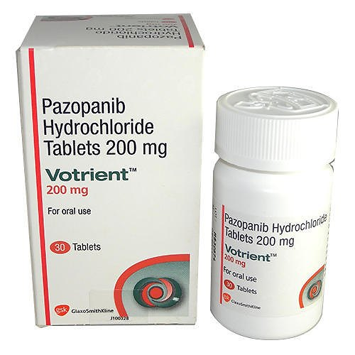 Buy Votrient 200 mg (Pazopanib) at an affordable cost. It's used to treat advanced renal cell cancer and advanced soft tissue sarcoma. Votrient® is produced by Novartis AG®, and sourced from authorized distributors in countries where drug costs are low.