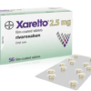 Buy Xarelto 2.5 mg (Rivaroxaban) at an affordable cost. It's an authentic medicine sourced from authorized distributors in countries where drug costs are low. Xarelto® is produced by Janssen Pharmaceuticals Inc®