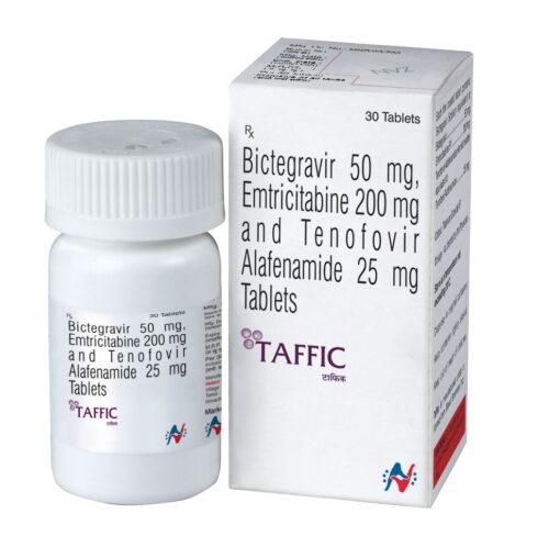 Buy generic Biktarvy 'Taffic' (Bictegravir / Emtricitabine / Tenofovir Alafenamide) at an affordable cost. It's produced under license by Hetero Drugs Ltd of India, an FDA approved manufacturer
