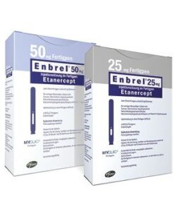 Buy Enbrel 25 MG (Etanercept) (4 pens) at an affordable cost. It's used to treat autoimmune diseases. Enbrel® is produced by Pfizer Inc®, and sourced from authorized distributors in countries where drug costs are low.