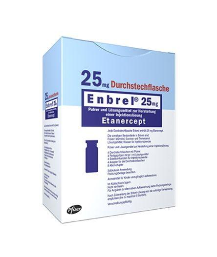 Buy Enbrel 25 MG (Etanercept) (4 vials) at an affordable cost. It's used to treat autoimmune diseases. Enbrel® is produced by Pfizer Inc®, and sourced from authorized distributors in countries where drug costs are low.