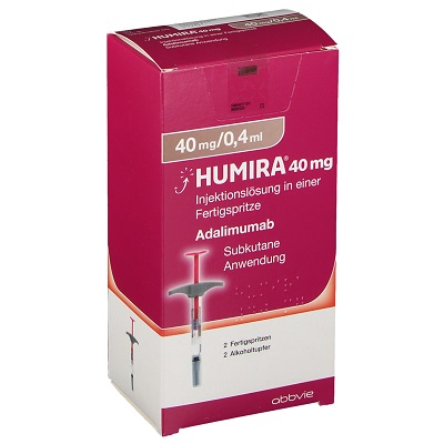 Buy Humira 40 MG/0.4 ML (Adalimumab) (2 syringes) at an affordable cost. It's an authentic medicine sourced from authorized distributors in countries where drug costs are low. Humira® is produced by AbbVie Inc®.