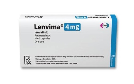Buy Lenvima 4 MG (Lenvatinib) (20 caps) at an affordable cost. It's used as a single agent to treat liver cancer, and thyroid cancer. It's also used together with Everolimus to treat advanced kidney cancer, and together with Pembrolizumab to treat a type of endometrial cancer. Lenvima® is produced by Eisai Co, Ltd®, and sourced from authorized distributors in countries where drug costs are low.