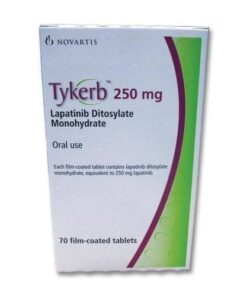 Buy Tykerb 250 MG (Lapatinib) (70 tabs) at an affordable cost. It's used to treat advanced or metastatic breast cancer. Tykerb® is produced by Novartis AG®, and sourced from authorized distributors in countries where drug costs are low.