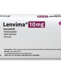 Buy Lenvima 10 MG (Lenvatinib) (20 caps) at an affordable cost. It's used as a single agent to treat liver cancer, and thyroid cancer. It's also used together with Everolimus to treat advanced kidney cancer, and together with Pembrolizumab to treat a type of endometrial cancer. Lenvima® is produced by Eisai Co, Ltd®, and sourced from authorized distributors in countries where drug costs are low.