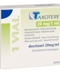 Buy Taxotere 20 MG (Docetaxel) (1 vial) at an affordable cost. It's used to treat Breast Cancer, Non-small Cell Lung Cancer, Castration-Resistant Prostate Cancer, Gastric Adenocarcinoma, Squamous Cell Carcinoma of the Head and Neck. Taxotere® is produced by Sanofi SA®, and sourced from authorized distributors in countries where drug costs are low.